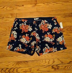 Old Navy Blue Floral Shorts